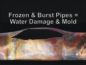 Frozen Burst Pipes Water Damage Mold YouTube