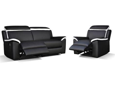 canape et fauteuil canapé ét fauteuil relax gris blanc ou noir blanc souffle