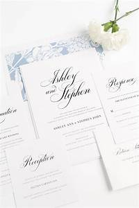 calligraphy wedding invitations in serenity blue wedding With calligraphy wedding invitations online