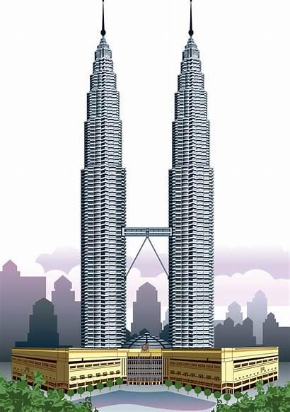 Clipart Towers Twin Khalifa Burj Centre Landmarks