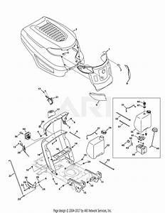 Troy Bilt 13an77kg011 Pony  2009  Parts Diagram For Hood Assembly