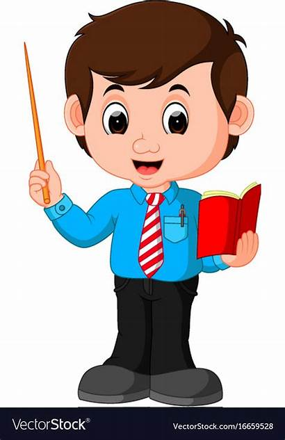 Classroom Mr Teacher Cartoon Male Vector Clyde