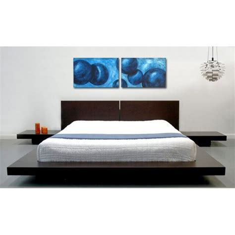 Nightstands For Platform Beds by Fujian Platform Bed 2 Nightstands Wenge Contemporary