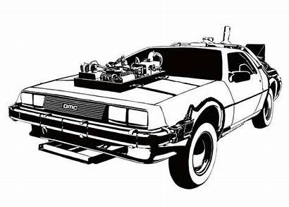 Delorean Future Coloring Bttf Pages Template Foster