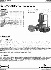 Emerson Fisher V500 Instruction Manual