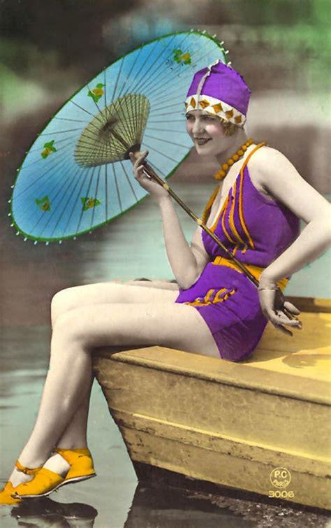 flapper fashion  incredible colorized postcards