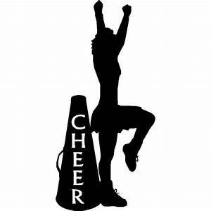 Cheerleader and Cheer Cone- Sport Silhouettes Wall Art
