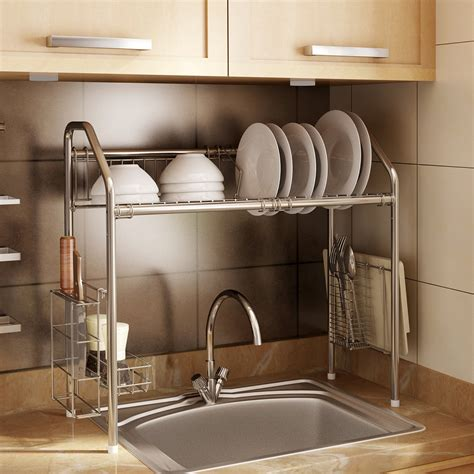 metal rack for kitchen sink the sink shelf organizers for kitchen and bathroom