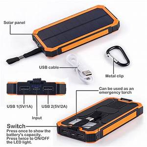 Power Bank Solar Cell 30000mah Battery Charger Circuit