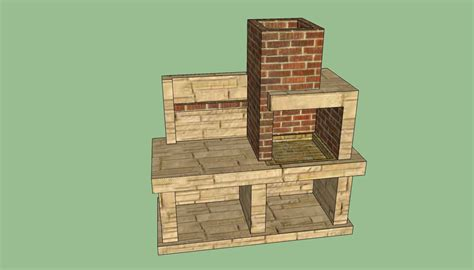 pit plans outdoor barbeque plans howtospecialist how to build step by step diy plans