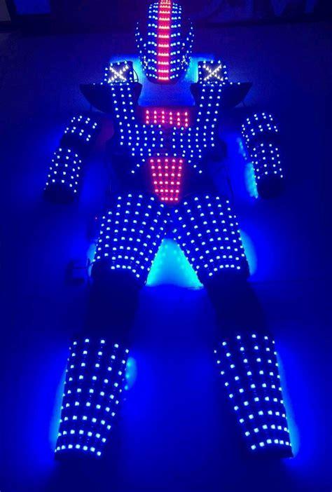 led light suit led robot suit costume leds show glow