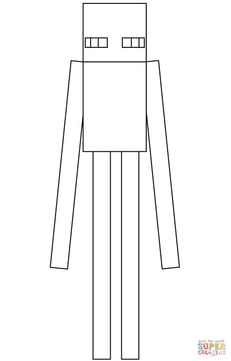 minecraft enderman  minecraft coloring page  coloring pages