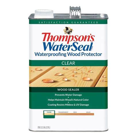 thompsons waterseal  gal clear waterproofing wood