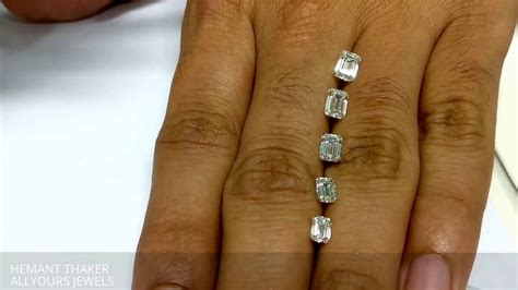 emerald cut diamond size comparison  hand  ct