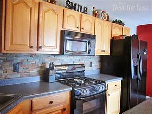 stone kitchen backsplash stone kitchen backsplash grey With kitchen cabinets lowes with stickers by sandstone