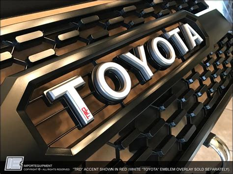 toyota tacoma trd pro grill trd accent sticker decal
