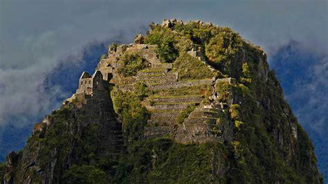 Wolken Am Berg Huayna Picchu Peru Bing Gallery