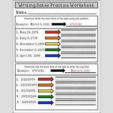 Esl Writing The Date Long And Short Form Conversion Practice Worksheet
