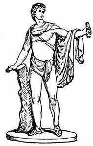 Apollo Greek God Black And White