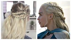 Game of Thrones - Daenerys Targaryen hair tutorial - YouTube