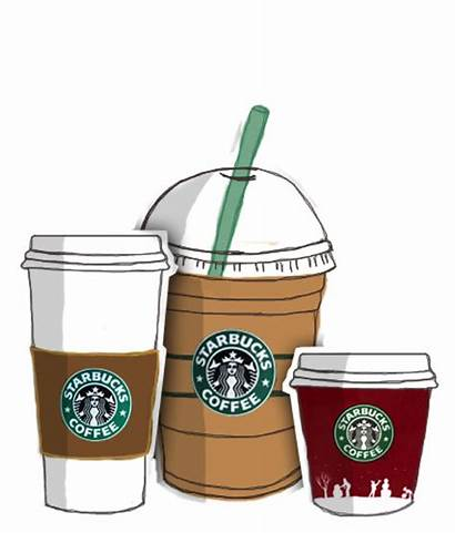 Starbucks Clipart Coffee Drawing Frappuccino Tumbler Transparent