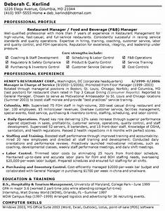 restaurant manager resume resume pinterest With resume templates for restaurant managers