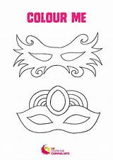 Colouring Carnival Sheets Mask sketch template