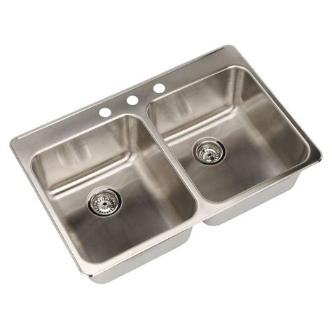 american standard stainless steel kitchen sinks american standard prevoir drop in brushed stainless steel 9016