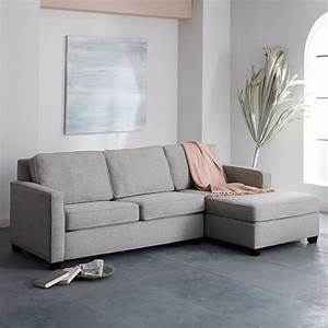 henryr 2 piece chaise sectional gravel twill west elm With henry sofa sectional west elm