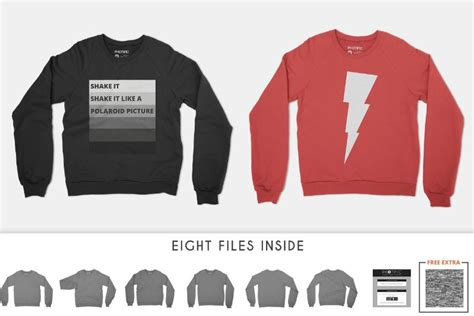 Crew Neck Mock Up Template by Sweater Mockup Templates Smart Ugly Men S Women S