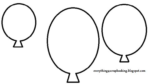 Balloon Template 8 Best Images Of Printable Balloon Cutouts Balloon Shape