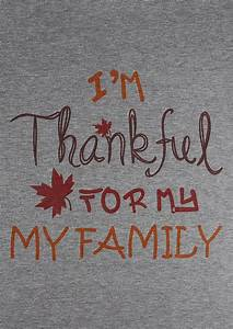 I 39 M Thankful For My Family Baseball T Shirt Bellelily