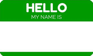 hello my name is template quot hello my name is green quot stickers by witza redbubble