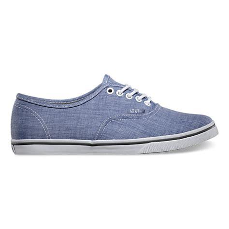 chambray authentic lo pro shop shoes at vans