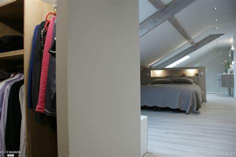 plan de dressing chambre aménagement de combles en suite parentale cathy macquet