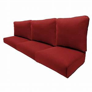 Hampton bay woodbury chili replacement outdoor sofa for Sandhill outdoor sectional sofa set replacement cushions