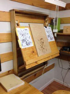 diy wall mounted drafting table plans  wood