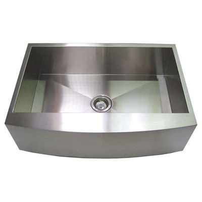 apron front stainless steel kitchen sink 30 stainless steel zero radius kitchen sink curve apron 9037