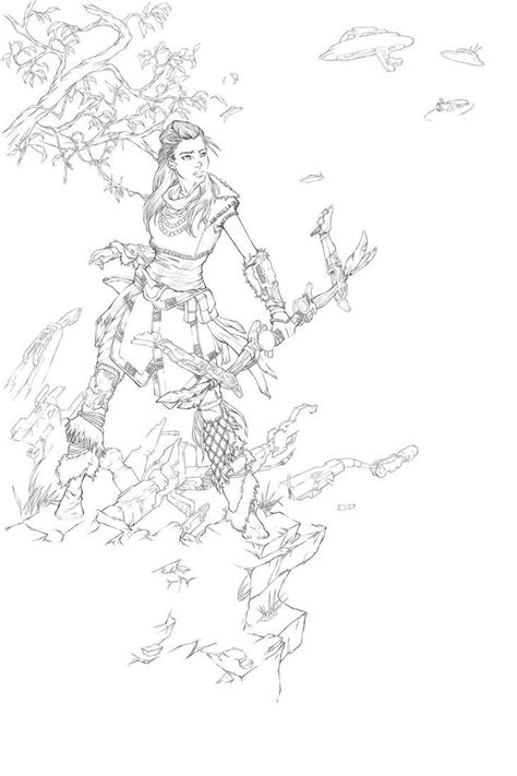 Artist: illyne on DeviantArt #horizonzerodawn #aloy #fanart | Gaming tattoo, Drawings, Horizon