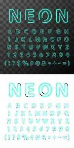 Neon Alphabet eps by Connie Larsen via Dreamstime