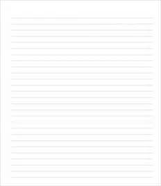 College Ruled Lined Paper Template Word