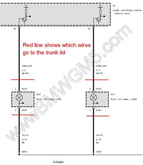 bmw e46 touring tailgate wiring diagram gallery diagram