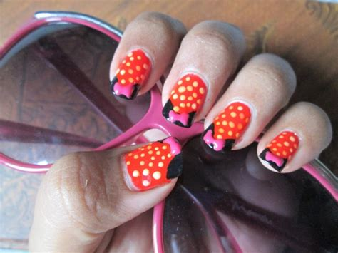 Minnie Mouse Nail Art Tutorial And Notd