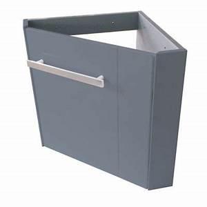 Lave Main Angle : meuble lave mains angle levyne gris castorama ~ Melissatoandfro.com Idées de Décoration