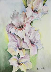 Gladiolus Painting by Carolyn Bell