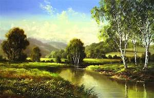 free shipping ancient woods Russian landscape oil painting