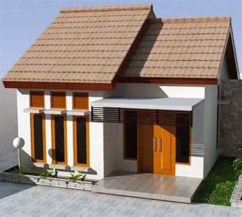 tampak depan rumah minimalis  lantai mungil desain