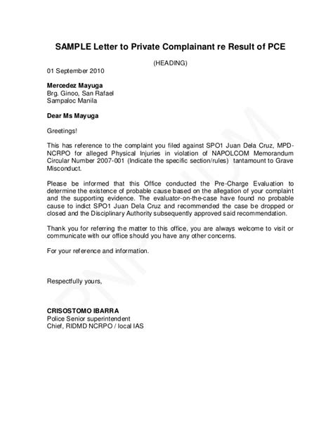 pnp pre charge evaluation  summary hearing guide