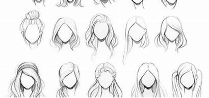 Drawing Hairstyles Reference Hair References Woman Drawings