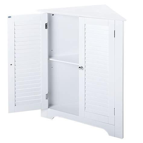 White Storage Cupboard With Doors by Corner Floor White Wooden Cabinet With Shelf 2 Door